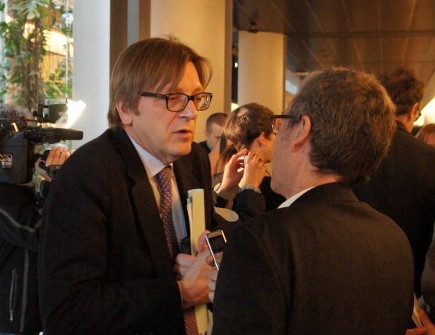 Guy Verhofstadt Former Belgian Prime Minister Strasbourg 25/02/214 Photo Graham Waghorn